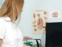Naughty nurse Olga Barz sex toys action in hospital