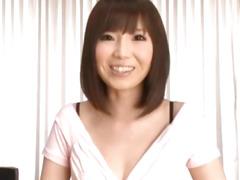Kurara shows naked cunt to camera
