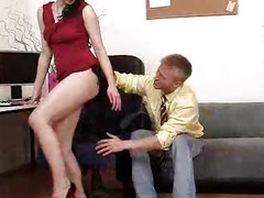 Teen Mazzy gets slammed by big cock in panty-hose
