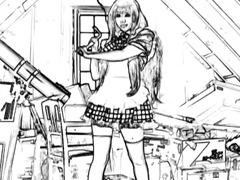 Yuuki in uniform rides tool well