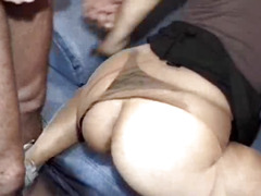 Extreme fist fucked slut showered in piss and sperm
