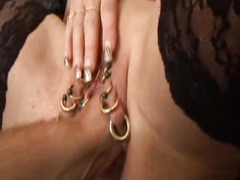 Extreme slut fisted in her monster pierced vagina