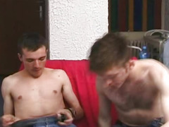 Two Amateur Gay Barebacking On Couch