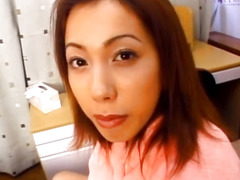 Nice Ayako gets busy on a fat dong