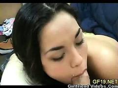 Hot Girlfriend Sucking & Sex
