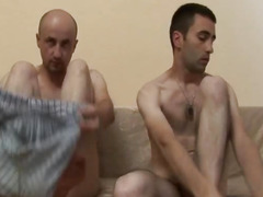 Gay Bald Bareback Anal Fucking Sex