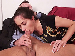 Cute girl Aruna Aghora picked up and pussy pounded for cash