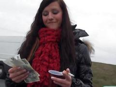 money, blowjob, brunette, hardcore