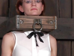 Worthless sub follows doms instructions