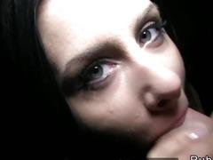 Czech babe gets tits cumhot in public pov