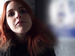 Redhead Czech girl screwed and cum facialed for money