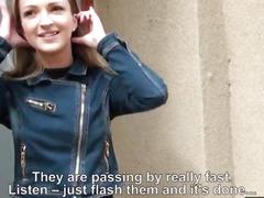Sexy amateur blonde Czech girl Melanie fucked for money