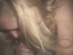 Blonde Crack Whore Fucked And Takes Cumshot On Tits