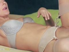 gentle babes in pants enjoying strap