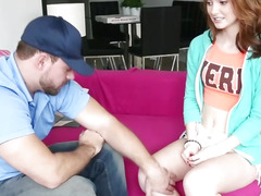 Natalie Fucks With The Pizza Guy And Ends Up Getting Fucked