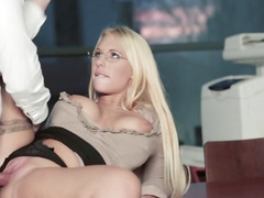 Office Fucking Action With Kyra Hot And Horny Boss