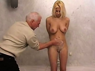 Porn Tube of Blond Babe Teen And Old Man