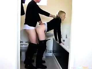 Porno Video of Hot Blonde Doggystyle In The Bathroom
