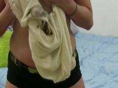Hot Big Tits Italian Babe Caught Masturbating On Cam