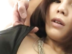 Azumi Harusaki fucked hard and creamed with jizz
