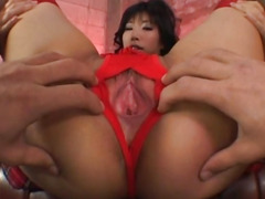 Japanese AV Model gets vibrator and hard cock