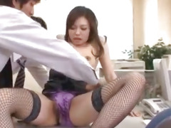 Aiko Hirose is fucked with vibrator and dicks
