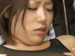 Miku Misato sucks tool while getting other in cunt