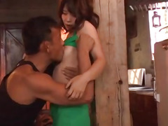 Yura Kurokawa grabs huge dick and starts riding it hard