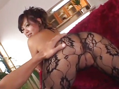 Japanese AV Model gets a big tyo up her wet vagina