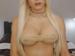 Busty blonde webcam shemale teaser stokes