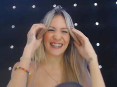 Shemale with perfect body teases and shows braces
