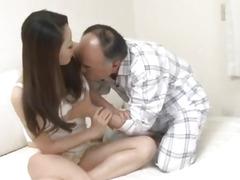 Ruri Hayami young doll meets senior cock