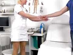 Cum on tits during sperm donation feat. milf doctor Dita