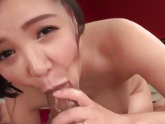 Huge tits milf, Miu Watanabe, plays nasty on cock