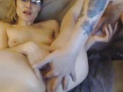 Hot couple finger fucking