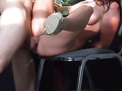 Redhead MILF Monique Alexander taking fat cock in the office
