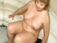mature bbw takes an anal punishment