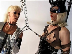 Mistress Alexandra Dominates A Blonde Tranny In Hot BDSM Scene