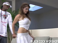 Large darksome cock acquires my fur pie soaking soaked