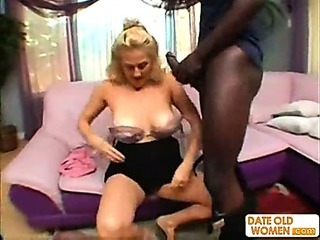 Porno Video of Horny Granny Does Nasty Things With Black Guy