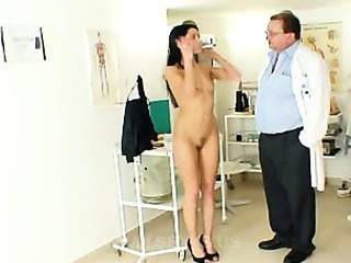 Porn Tube of Skinny Brunette In Doctor Anal Exam
