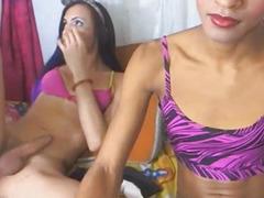 I Caught my Sexy Lady-Boy Allies Jerking on Webcam