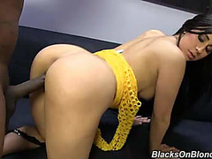 Naughty brunette hair Valerie Kay becomes wasted by large dark shlong and mouthfilled