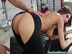 Hottie August Ames pounded in cum-hole