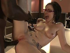 Cute Veruca James Has Interracial Anal Sex In The Classroom