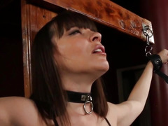 Tied screaming skank analized and throated