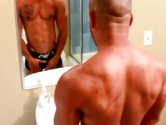 BBC meaty schlong solo jerkoff and cum session