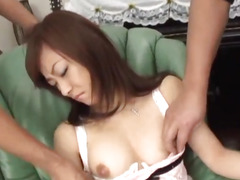 Megumi Morita endures coarse play on her muff