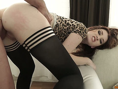 Delightsome hoe in darksome nylons Misha Cross can't live without anal