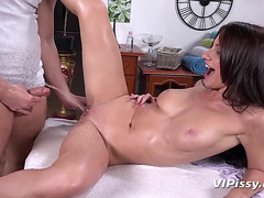 VIPissy Russian playgirl Lana Ray acquires showered with make water and drilled hard fearsome-fearsome PornDoe